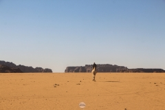 سفينة الصحراء تسبح في حضيرة الاهقار, تمنراست, الجزائر
